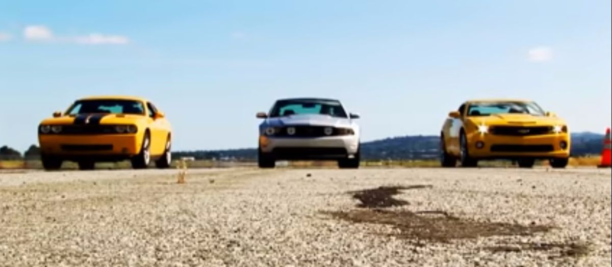 pony car drag race dodge challenger srt8 vs camaro ss vs mustang gt. Cars Review. Best American Auto & Cars Review